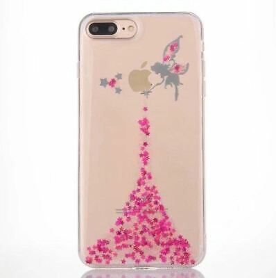 AU6.90 • Buy Bling Glitter Angel Clear Girl Women Case Cover For Apple IPhone XS 8 7 6S Plus