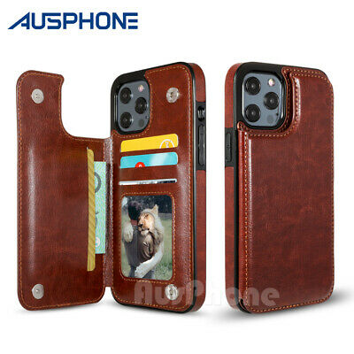 AU8.95 • Buy Leather Wallet Case Card Shockproof Cover For IPhone 12 Mini 11 Pro XS Max XR 8