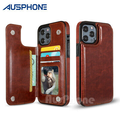 AU9.95 • Buy Leather Wallet Case Card Shockproof Cover For IPhone 13 12 Mini 11 Pro XS Max XR