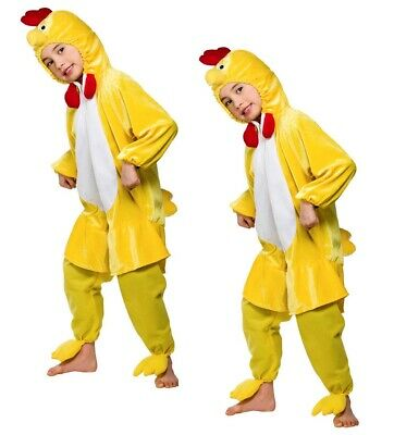 Kids Chick Chicken Costume Easter Bird Animal Farmyard Fancy Dress Outfit • 14.49£