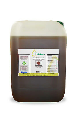 Linseed Oil - 100% Pure, Cold Pressed Linseed Oil  - 10 Litres • 30.99£