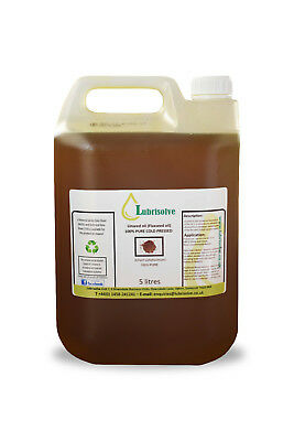 Linseed Oil - 100% Pure, Cold Pressed Linseed Oil  - 5 Litres • 18.99£