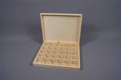 Wooden Tray Box 30 Compartment Display Storage Section Jewellery Keepsake 30-COM • 14.99£