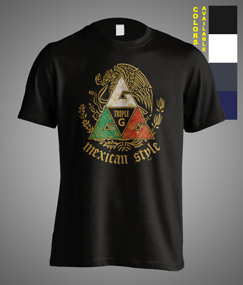 $ CDN21.09 • Buy New Team GGG Mexican Style Champ Boxing Match Canelo Triple G Mens T-Shirt Tee
