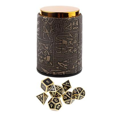 AU25.43 • Buy 7 Set Metal Polyhedral Dice For  DND RPG +Dice Cup #3