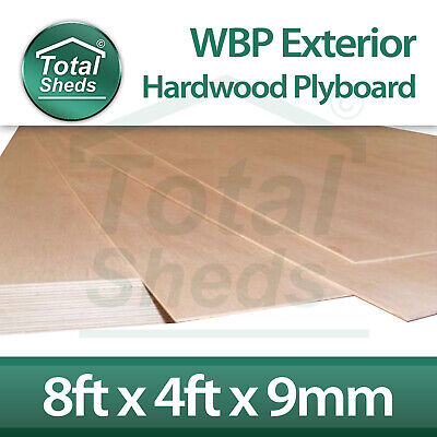 *Pack Of 5* 9mm X 2440mm X 1220mm (8ftx4ft) WBP BB/CC Red Face Exterior Plywood! • 171.53£