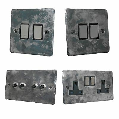 £19.50 • Buy Rustic Silver Flat Plate FR3 Light Switches, Plug Sockets, Dimmers, Cooker, Fuse