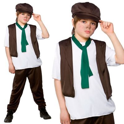 £10.99 • Buy Victorian School Boy Costume Child Poor Urchin Book Day Oliver Fancy Dress Outfi