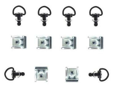 Motorcycle Dzus Fairing Quick Release D Ring Bolts Clips Black 17mm X 6  • 16.99£