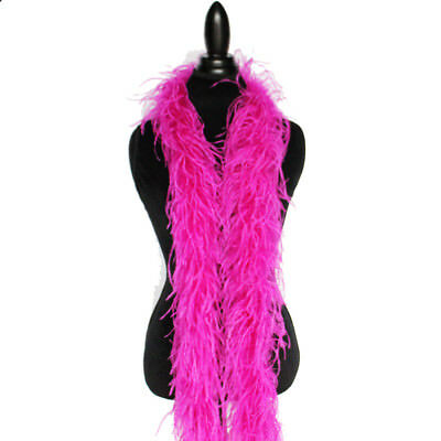£37.86 • Buy Fuchsia 2 Ply Ostrich Feather Boa High Quality Cynthia's Feathers, NEW!