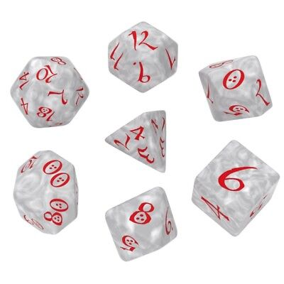 $ CDN11.44 • Buy Q-workshop 7 Dice Set Of Pearl & Red Classic SCLE86
