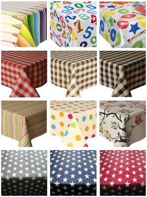 Pvc Table Cloth Kids Novelty Children's School Nursery Party Wipe Able Protector • 15.99£