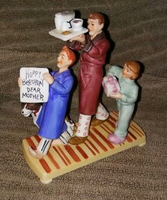 $ CDN16.17 • Buy MUSEUM COLLECTIONS Figurine  Happy Berthday Dear Mother  Norman Rockwell 1987