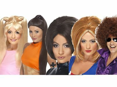 Spice Girls Wig 1990s Fancy Dress Accessory Sporty Posh Baby Ginger Scary Spice • 12.49£