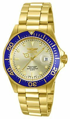 View Details Invicta Pro Diver Unisex Analogue Classic Quartz Watch With Stainless Steel Gold • 71.61£