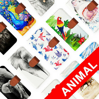 AU12.99 • Buy Leather Wallet Card Holder Folio Case For Apple Iphone 6 7 8 X Plus Animal