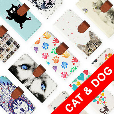 AU12.99 • Buy Leather Wallet Card Holder Folio Case For Apple Iphone 6 7 8 X Plus Cat Dog