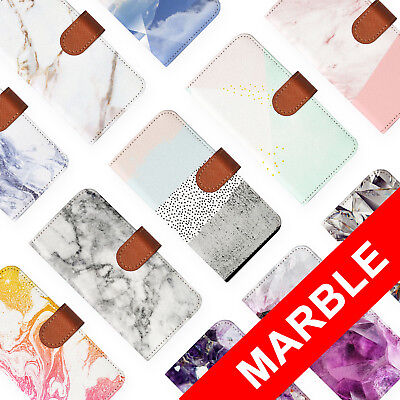 AU12.99 • Buy Leather Wallet Card Holder Folio Case For Apple Iphone 6 7 8 X Plus Marble