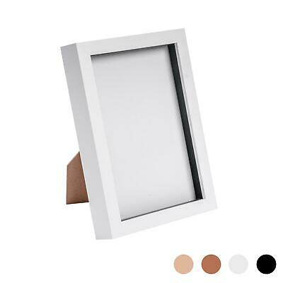 Box Picture Frame Deep 3D Photo Display 6x8 Inch Standing Hanging White • 8.99£