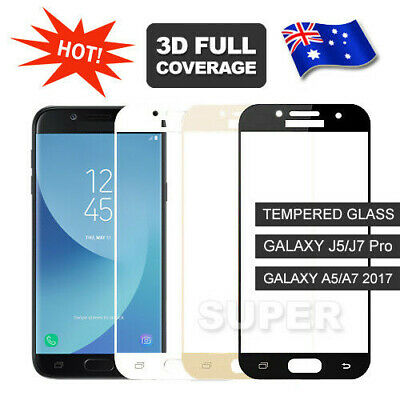 AU4.45 • Buy 9H Full Tempered Glass Screen Protector For Samsung Galaxy A5 A7 2017 J5 J7 Pro