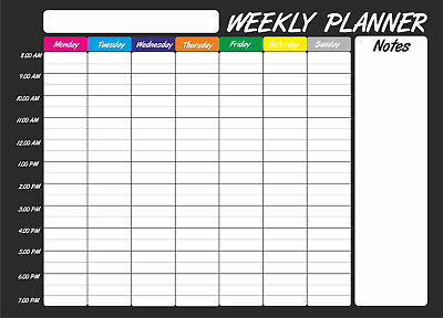 £6 • Buy Extra Large A2 Dry Wipe Weekly Planner