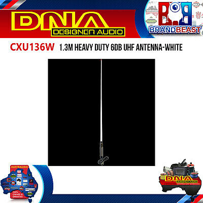 AU197.50 • Buy DNA CXU136W 6dB 1.3m Heavy Duty UHF Antenna - White