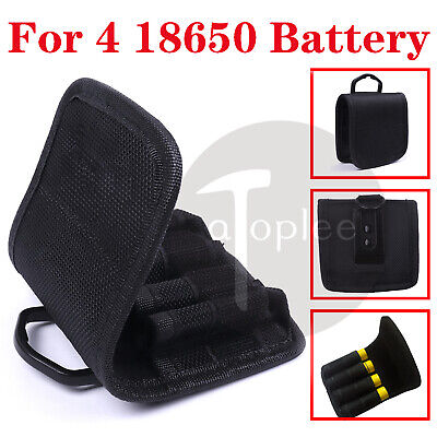 AU6.80 • Buy Battery Pouch Storage Bag 4x 18650 AAA AA Batteries Case Carrying Holder Nylon