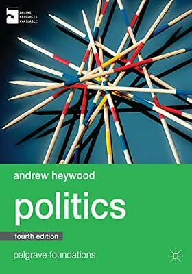 £10.99 • Buy Politics (Palgrave Foundations Series) By Heywood, Andrew Book The Cheap Fast