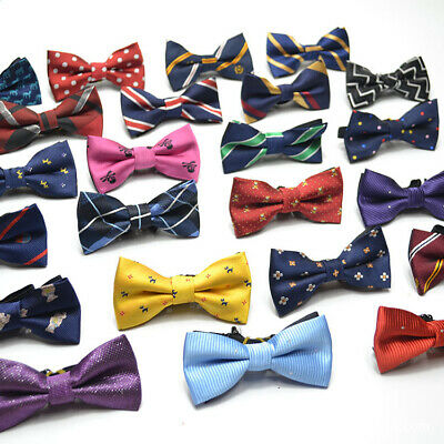 NEW Baby Toddler Boys Pre Tied Patterned Jacquard Bow Tie Dickie Bow *UK*   • 4.95£