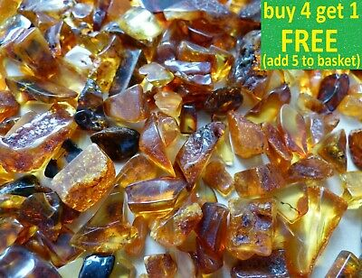 Lovely Baltic Genuine Amber Raw Or Polished Stones Natur Bernstein 10-50g Choose • 19.99£