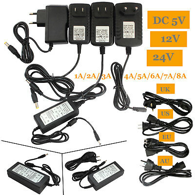 $ CDN6.09 • Buy Power Supply Adapter Transformer LED Strip 1A 2A 3A 5A 8A 110/220V To 5V 12V 24V