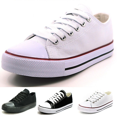 $21.95 • Buy New Mens Classic Lace Up Canvas Shoes Athletic Sneakers Casual Fashion Size 7-12