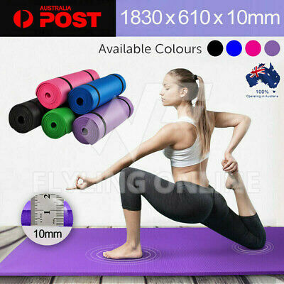 AU26.59 • Buy VIVA 10MM Thick Yoga Mat Pad Nonslip Fitness Pilate Exercise Gym 7 Colours