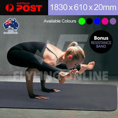 AU36.98 • Buy VIVA 20MM Thick Yoga Mat Pad Nonslip Fitness Pilate Exercise Gym 5 Colours