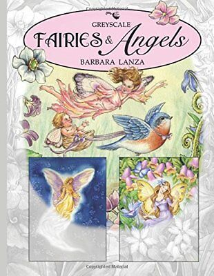 £10.99 • Buy Fairies Angels Greyscale Adult Colouring Book Fantasy Enchanted Colour Lane Gift