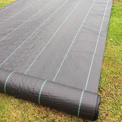 £22.99 • Buy 1m X 50m 100g Weed Control Ground Cover Driveway Membrane Landscape Fabric
