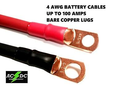AU17.91 • Buy 4 Awg Copper Battery Cable Power Wire Car, Inverter, RV, Solar, Carts