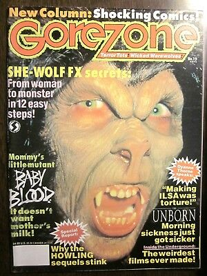Gorezone Magazine #19 (Fall 1991, 66 Pp) She Wolf, Baby Blood (NM, 9.4) W/Poster • 9.99$