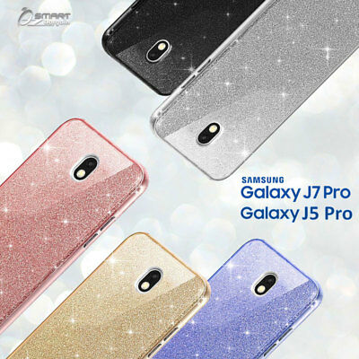 AU5.99 • Buy Glitter Shining Bling TPU Jelly Gel Case Cover For Samsung Galaxy J5 Pro J7 Pro