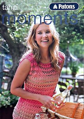 Ladies KNITTING/CROCHET PATTERN BOOK Patons Tahiti Moments KNITTING BOOK • 5.25£