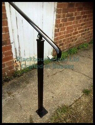 £130 • Buy Wrought Iron Style Exterior Handrail/ Garden Railing With One Bolt Down Post