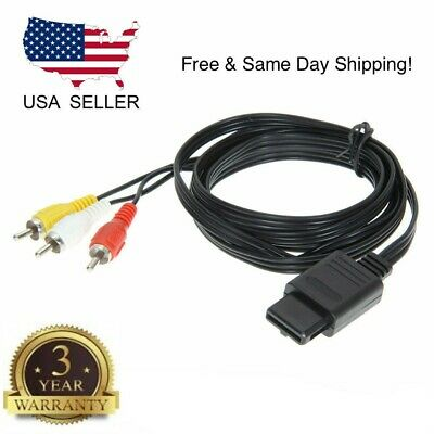 AU5.45 • Buy For Nintendo 64 N64 Av Audio Video A/v Cable Cord Wire