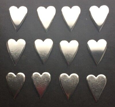 10th Wedding Anniversary Scatter Decorations/tin Hearts/embellishments/confetti • 1.99£
