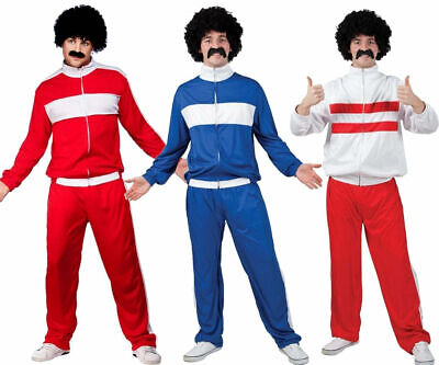 Scouser Tracksuit Mens Fancy Dress 1980s Retro Shell Suit 80s Adult Costume • 15.49£