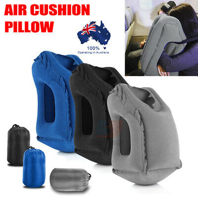 AU19.98 • Buy Inflatable Travel Pillow Portable Head Support Nap Cushion For Airplane Train