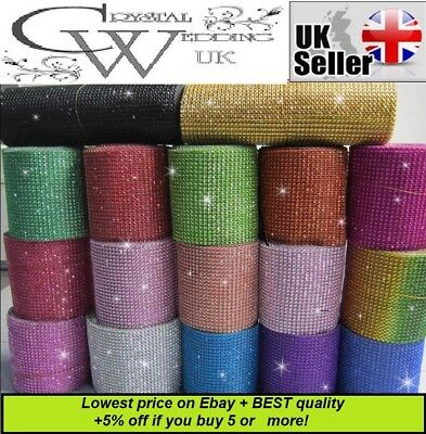 Crystal Diamante Sparkly¨*:·1m Rhinestone Craft Hobby Cake Ribbon  SEE VIDEO! • 2.29£
