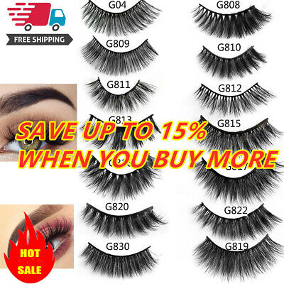 AU1.19 • Buy SKONHED 5 Pairs 3D Mink Hair False Eyelashes Thick Wispy Lashes Natural Makeup