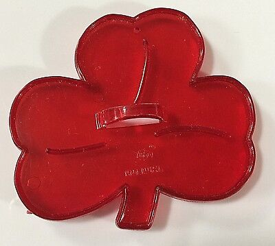 Vintage  Shamrock  Red Plastic HRM Cookie Cutter FREE SHIPPING • 7.01£