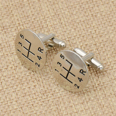 $1.96 • Buy 1pair Alloy Fashion Car Shift Gear Cuff Links Men Costume Accessories Gift Chic