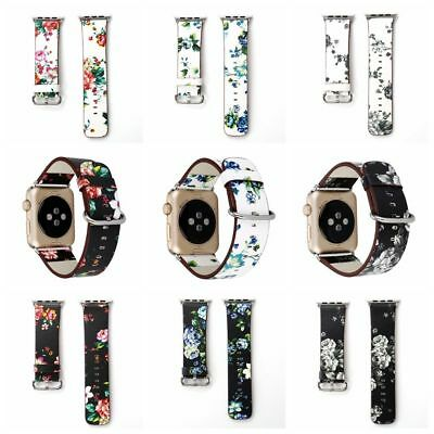 $ CDN7.92 • Buy Wristwatch Band Fit For Apple Iphone IWatch Leather Watch Strap 38mm/42mm